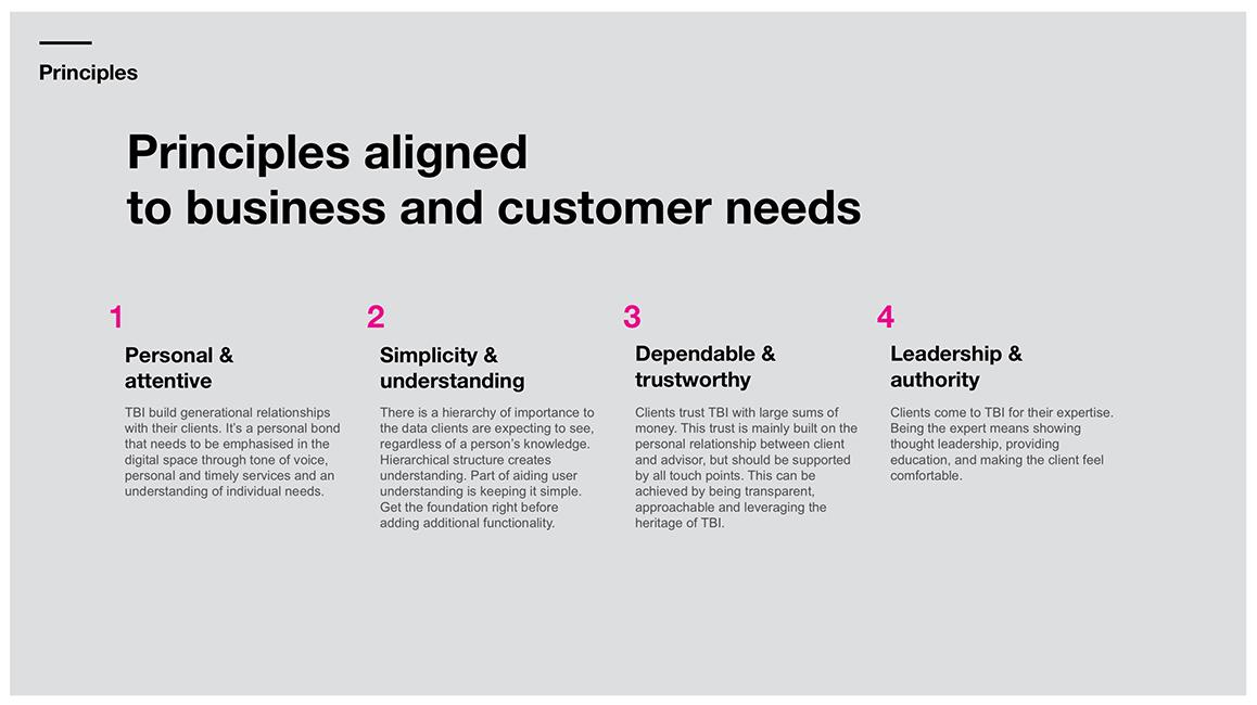 Design principles for Tilney