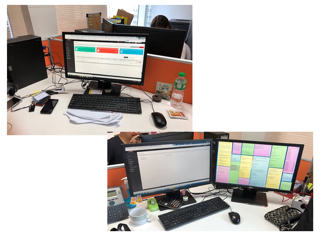 Workstations of the CS staff.